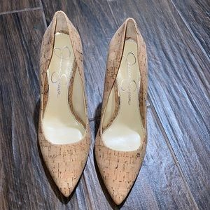 Jessica Simpson cork heels